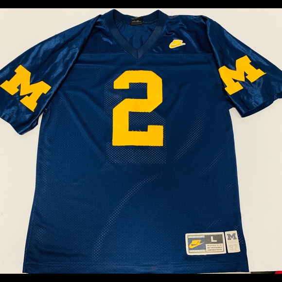 online retailer 9f3d5 7095c Vtg 90s Nike Michigan Wolverines Charles Woodson